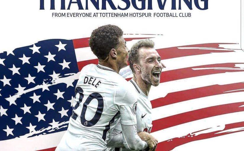 วันขอบคุณพระเจ้ามีความสุข #tottenham #thfc # สเปอร์ #america #usa #thanks ให้ #turkey …