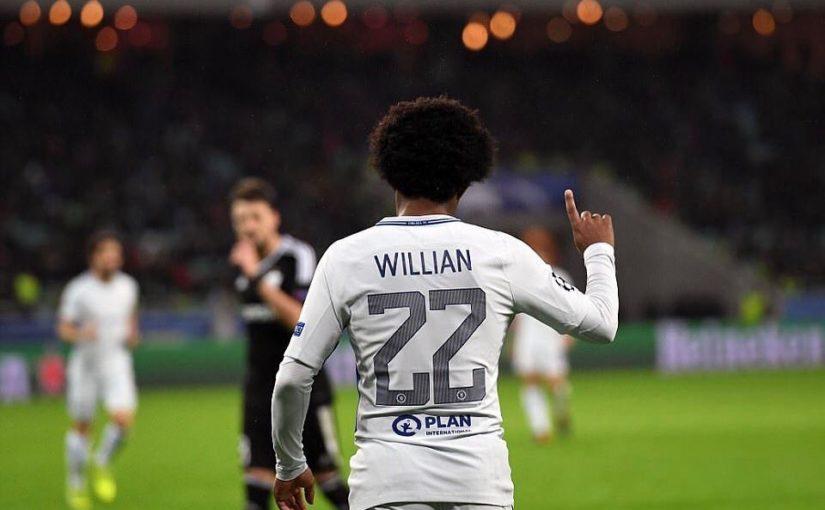 วงเล็บปีกกาจาก Willian ในการปรากฏตัวครั้งที่ 200 ของเขาสำหรับ Blues- เยี่ยมยอด! Willia …
