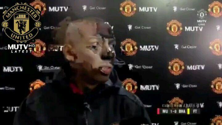 แอชลีย์หนุ่มหลังการสัมภาษณ์ . (MUFC 1-0 ไบรตัน) . #MUFC #Young #Manche …