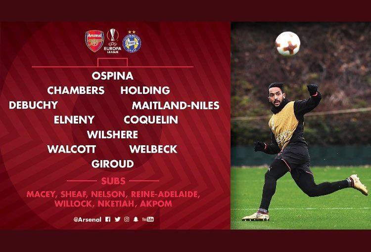 นี่คือวิธีที่เรามองวันนี้กับ BATE ️️ #Arsenal #AFC #AlexisSanchez #ArsenalFC #O …