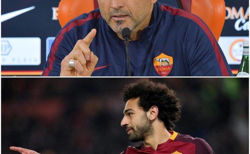 """อินเตอร์โค้ช Spalletti: """"Mohamed Salah เป็นผู้เล่นที่ดีที่สุดที่ฉันเคยเล่นในอาชีพของฉัน"""" . #salah #roma …"""