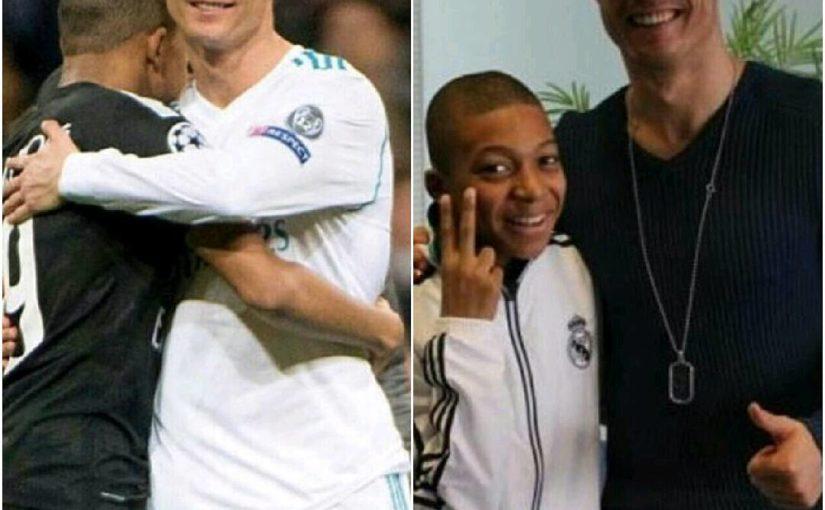 โรนัลโดและ Mbape อดีตและปัจจุบัน Chris Ronaldo และ Killian Ambapa ในอดีตแล้ว …