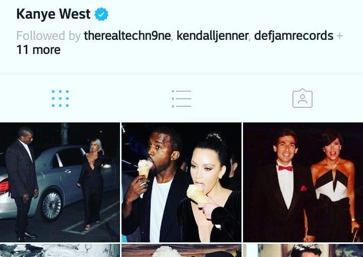 @Kanyewest เพิ่งปรับปรุง Instagram ของเขา #lol #meme #jumpman # 420 #yeezy #yeezyboos …