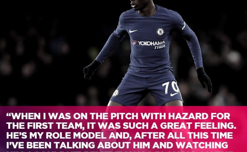 Callum Hudson-Odoi กำลังเลียนแบบรูปแบบของ Eden Hazard ··· #BreatheCh …