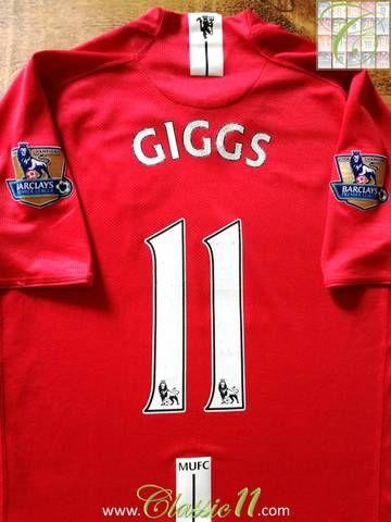 อย่างเป็นทางการ Nike Manchester United เสื้อฟุตบอลพรีเมียร์ลีกจากปี 2008 …