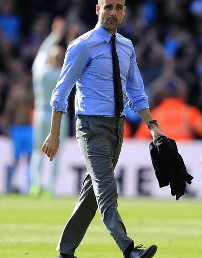 Pep Guardiola ภาพถ่าย – แมนเชสเตอร์ซิตี้ผู้จัดการ Pep Guardiola หลังจาก Pr …