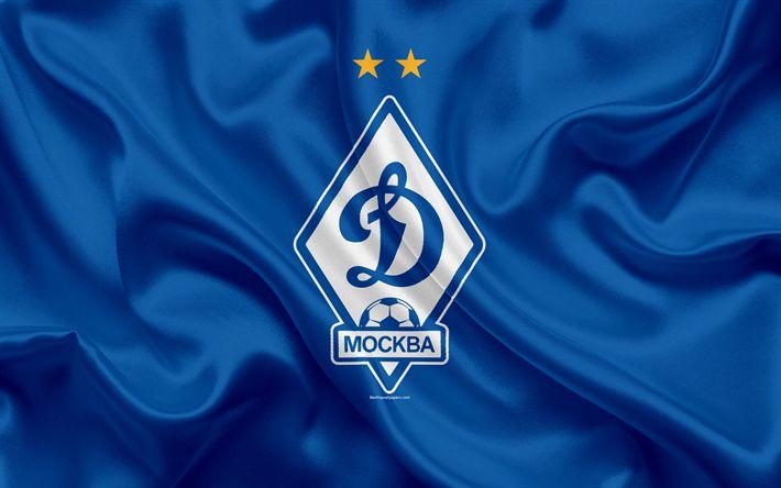 ดาวน์โหลดวอลเปเปอร์ FC Dynamo มอสโก, 4k, สโมสรฟุตบอลรัสเซีย, ไดนาโมโลโก้, em …