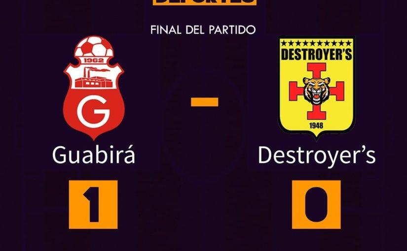 จบเกม! # Guabirá 1 – 0 #Destroyers เป้าหมาย: ️ Mojica 28 & # 39;  #montero #s …
