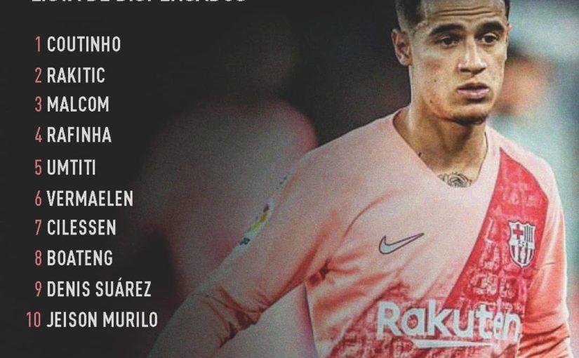 Barçaทำรายการสละสิทธิ์และผู้เล่นที่เลือกมีอิสระที่จะ …